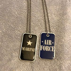 Other - Dog tag style military necklaces
